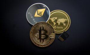 Digitale betalingseenheden, Bitcoin, Ethereum, Ripple.