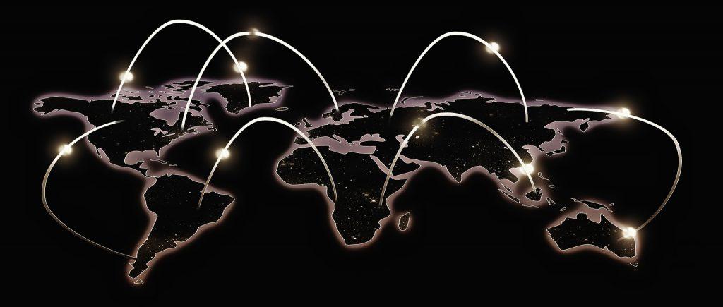 Wereldwijd netwerk, blockchaintechnologie.