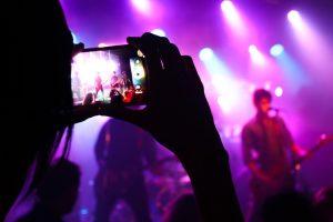 Live muziek, fotograferen van popidool.
