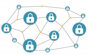 Blockchain, cryptografische versleuteling van medische data.