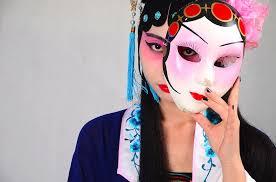 Chinese dame, masker.