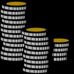 Een stapel munten, AdCoin.