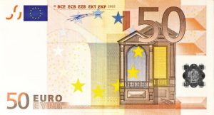Bankbiljet van 50 euro.