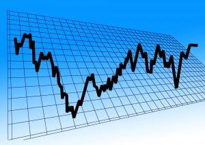 Grafiek, crypto, handelsbeurs