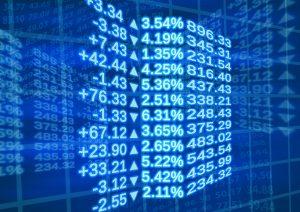 Aandelenmarkt, koersen, grafiek.