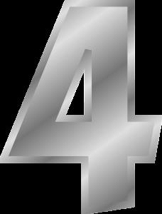 4, vier.