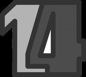 14, veertien.