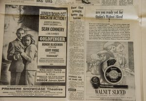 Advertentie oude krant