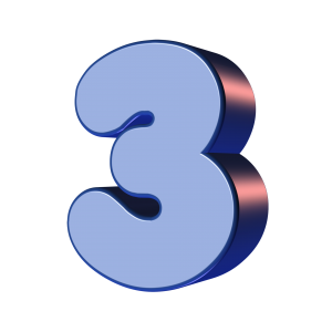 3, drie.