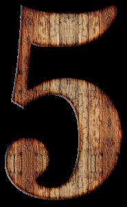 5, vijf.