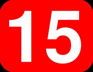 15, vijftien.