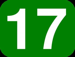 17, zeventien.