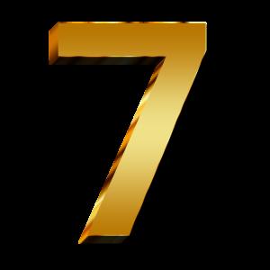 7, zeven.