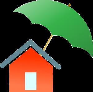 Huis, paraplu, inboedelverzekering.