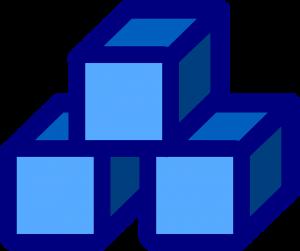 Blauwe blokken