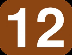 12, twaalf.