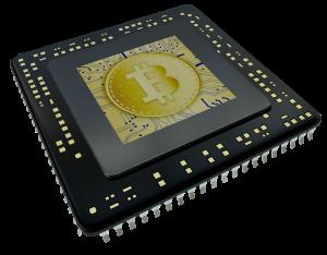 Bitcoin, chip, mining hardware.