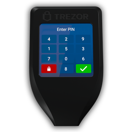 Trezor T touch screen