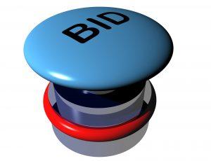 Button, bid, bieden, openingsbod.