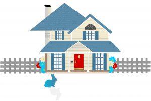 Huis, villa, vastgoedsector.
