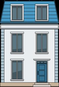Frans huis, vastgoedsector.