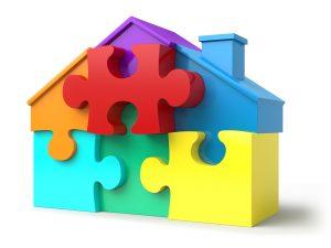 Huis, puzzel.