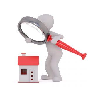 Real estate, vastgoedsector, onroerend goed, zoeken, vergrootglas, blockchain.