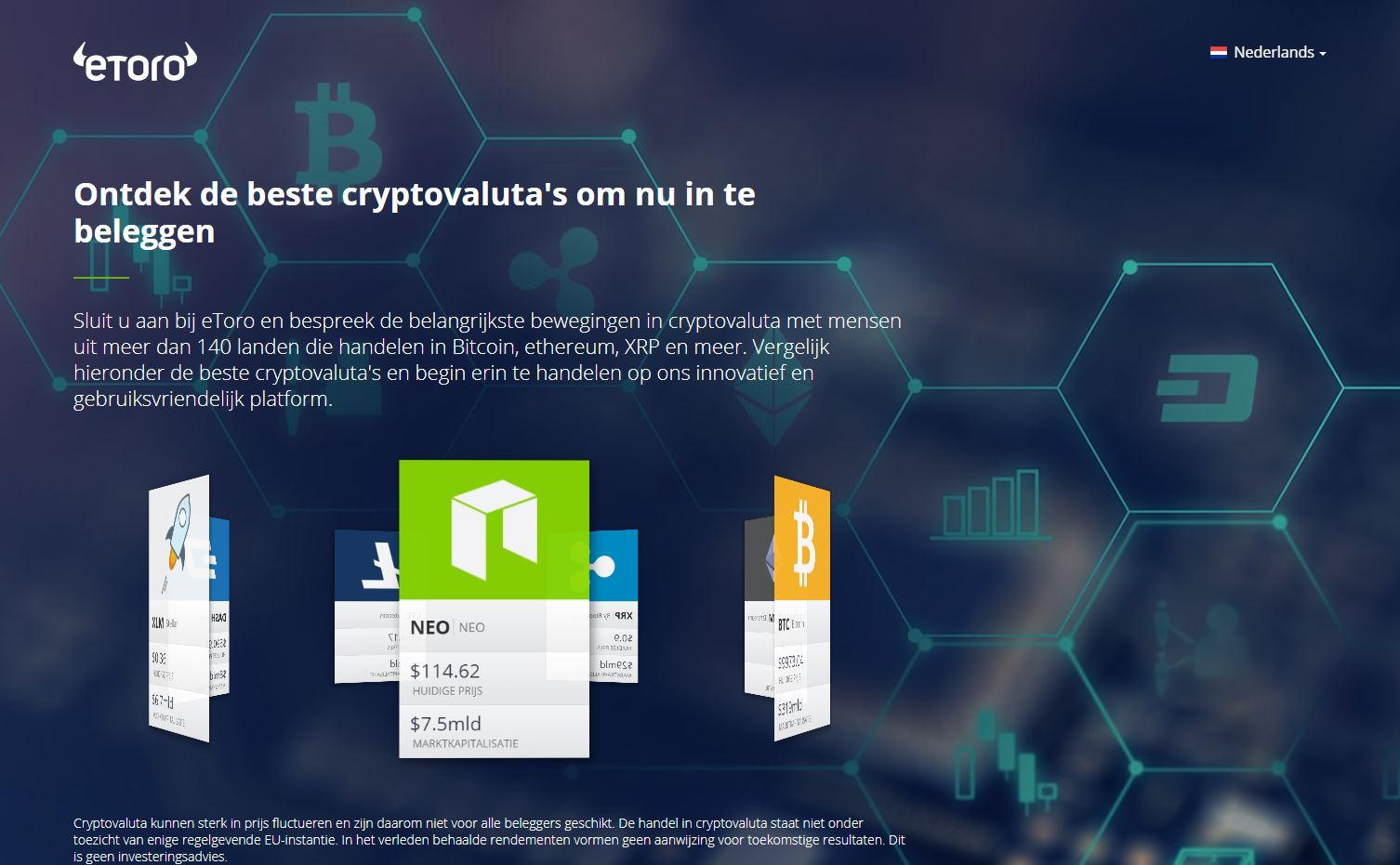 Crypto platform, eToro wallet
