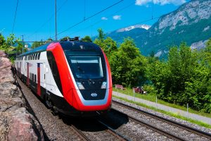Passagierstrein, spoorwegen, SBB