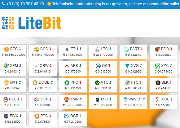 Portfolio virtuele valuta van LiteBit