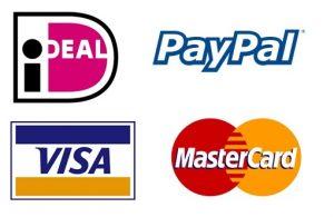 Betalingsmethoden, iDEAL, PayPal, Visa, MasterCard