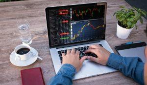 Trading, laptop