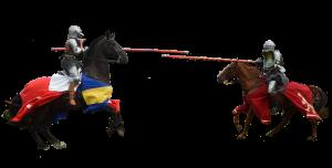 Middeleeuwse ridders te paard