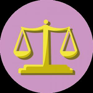 Een weegschaal, wetgeving, Programmeren voor Juristen