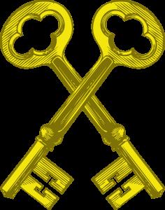 Sleutels, de afbeelding linkt naar een video waarin wordt uitgelegd wat de functie is van private en publieke sleutels is binnen een blockchainnetwerk