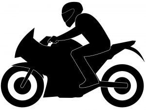 Silhouet motorrijder