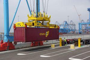 Haven, container, kraan